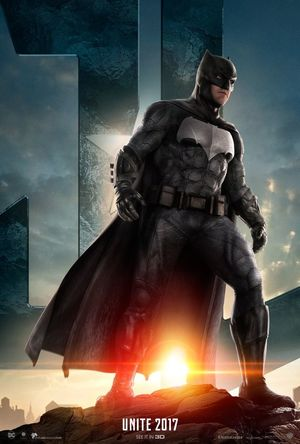 First poster of Batman ahead of the official 'Justice League