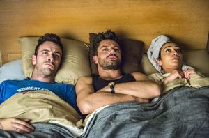 Joseph Gilgun, Dominic Cooper, and Ruth Negga