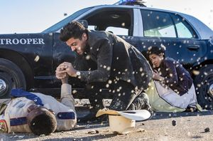 Dominic Cooper in action as Jesse Custer in Season 2 of Prea