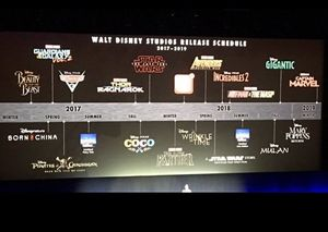 Disney's Film Slate Through 2019