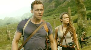 Tom Hiddleston and Brie Larson in