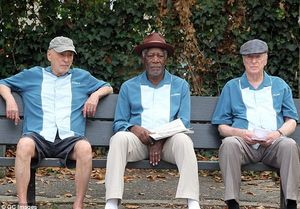 Alan Arkin, Morgan Freeman and Michael Caine in