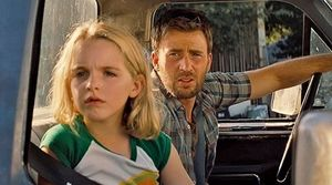 Mckenna Grace and Chris Evans in