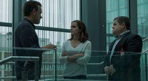 Tom Hanks, Emma Watson and Patton Oswalt in