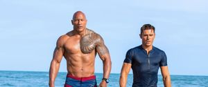Dwayne Johnson and Zac Efron in