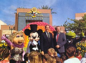 Michael Eisner with Jim Henson