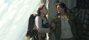 Annabelle Wallis and Tom Cruise in