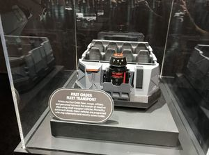 First look at the trackless ride vehicle for Star Wars Land