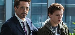 Robert Downey, Jr. and Tom Holland in