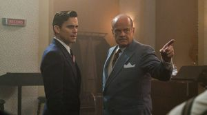 Matt Bomer as Monroe Stahr and Kelsey Grammer as Pat Brady