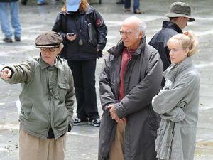 Woody Allen directing Larry David and Evan Rachel Wood in Wh