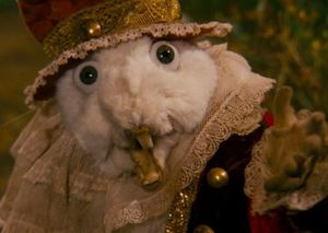 The White Rabbit shows up as a frightening work of taxidermy