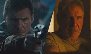 Harrison Ford as Blade Runner Rick Deckard - then (1982) and now (2017)