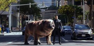 Lockjaw and Black Bolt from 'Marvel's Inhumans'