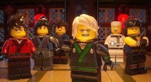 Green Ninja/Lloyd (Dave Franco) and his fellow ninjas in