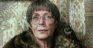Allison Janney and bird in