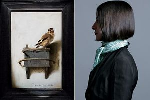 BIRD IN HAND Left: The Goldfinch, 1654, by Carel Fabritius.