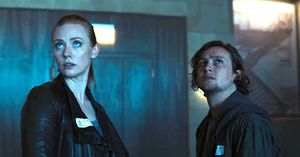 Deborah Ann Woll and Logan Miller