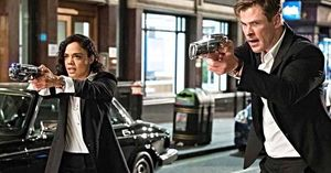 Tessa Thompson and Chris Hemsworth