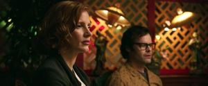 Jessica Chastain and Bill Hader