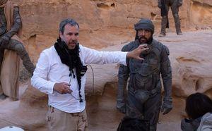 Director Denis Villeneuve and Javier Bardem on the set. ⎮ PHOTO BY CHIABELLA JAMES.