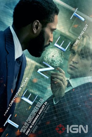 New 'Tenet' Poster with  John David Washington and Robert Pa
