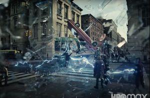 Barry Allen saving Iris West