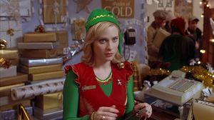 Not a North Pole elf, but elf enough to capture Elf's heart. Zooey Deschanel plays store elf Jovie.