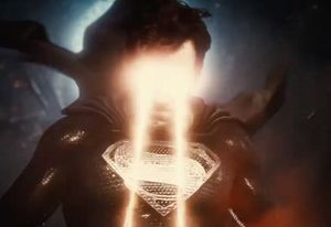 Superman uses his Heat Vision