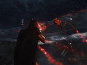 Batman takes down Parademons