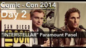 Interstellar Comic-Con 2014 Panel featuring Christopher Nola