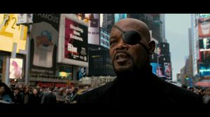 Captain America meets Nick Fury
