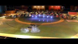 Finn McMissile oil rig chase, Cars 2