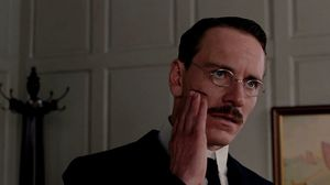 Sabina Spielrein stabs Carl Jung in the face in A Dangerous Method