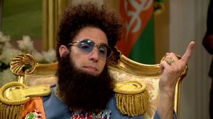 Because I'm Jewish? I just spat on the floor. I don't like the floor. The Dictator