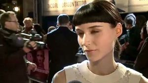 Daniel Craig, Rooney Mara and Geraldine James at the world premiere of The Girl with the Dragon Tattoo