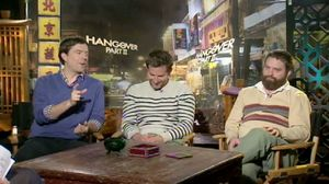 Bradley Cooper, Ed Helms and Zach Galifianakis talk about shooting The Hangover 2 in Bangkok