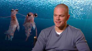 Matt Damon talks about how Brad Pitt really went for it in Happy Feet 2