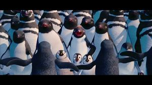 Everybody came except for the guy who had the sniffles. Happy Feet 2