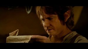 Bilbo faints after reading his contract in The Hobbit: An Unexpected Journey