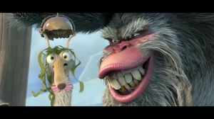 Scrat finds nut in water. Ice Age 4