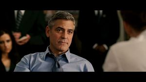 George Clooney and Ryan Gosling discuss mandatory service in The Ides of March