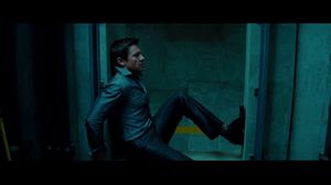 Brandt jumps onto the computer fan in Mission Impossible 4