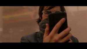 Tom Cruise chases Samuli Edelmann in a sandstorm in Mission: Impossible 4