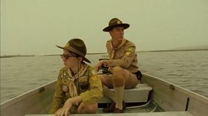 Bill Murray, Bruce Willis and Edward Norton on the set of Moonrise Kingdom