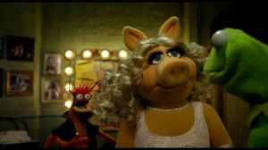Pepe is Miss Piggy's new dance partner in The Muppets