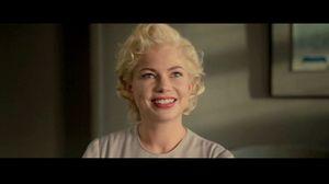 Marilyn Monroe winks at camera in My Week With Marilyn