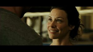 Evangeline Lilly and Hugh Jackman talk about money in Real Steel