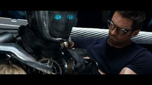 He has a shadow function. Watch me. Real Steel
