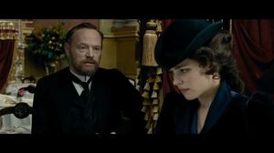 Professor Moriarty talks to Irene Adler about his plans in Sherlock Holmes 2